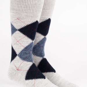 Argyle alpaca socks