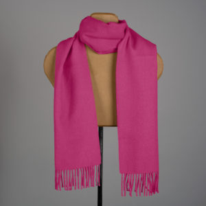 Foulard tissé de couleur unie en alpaga