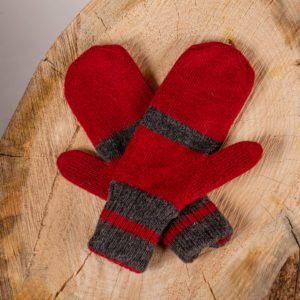 Reversible Alpaca Mitts - Canadian Style