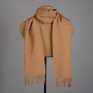 Solid color woven scarf in alpaca - Cream
