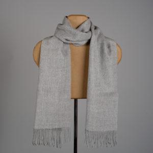 Foulard tissé de couleur unie en alpaga - Gris