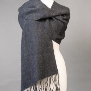 Wide hand woven scarf
