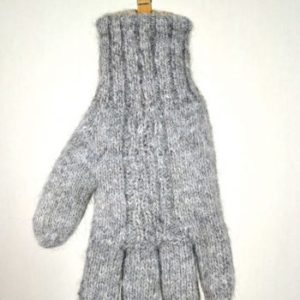 Hand made alpaca gloves- double and reversible
