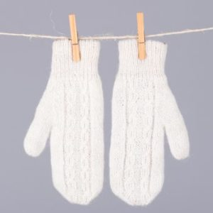 Hand made alpaca mitts- double and reversible