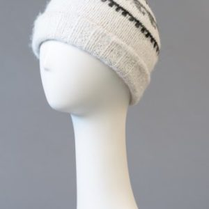 Hand made alpaca hats with brim - double and reversible