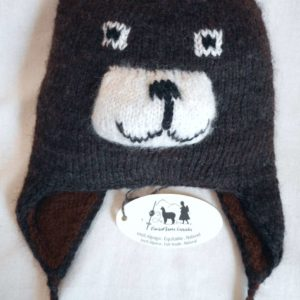 Children's hand made alpaca andean hat - double thickness - animalito style