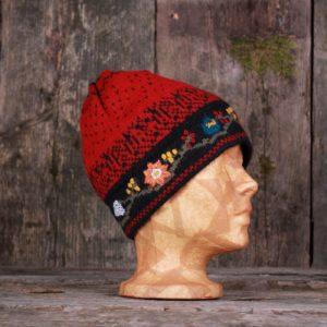 Embroidered alpaca hat