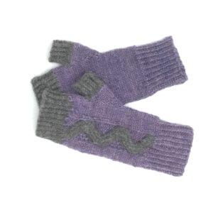 Gants sans doigts en Alpaga - tricotés à la main à la ferme